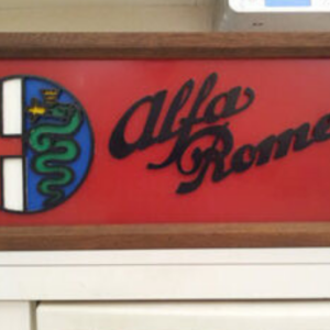 Alfa Romeo, walnut light box