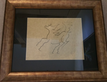 Dancing Horse , Pen and Ink on Parchment