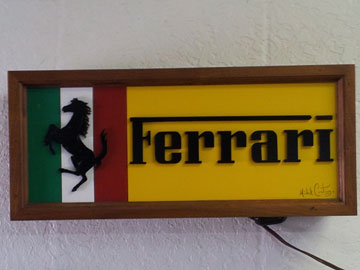 Ferrari walnut light box