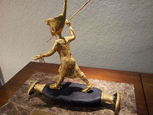 Ancient gold Statue